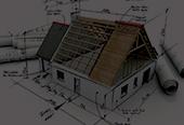 Nytt visningshus under uppbyggnad
